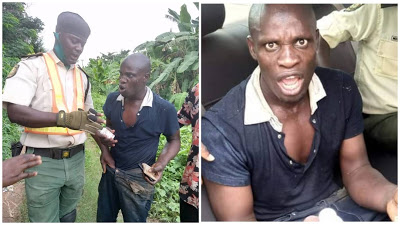 PHOTOS: Man Rescued After Attempting Suicide In Ogun River