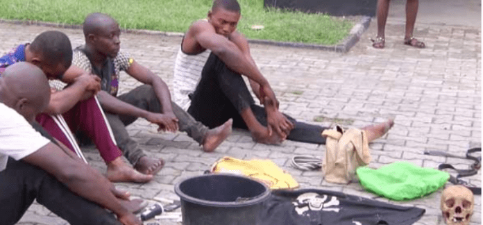 5 Cultists With Human Skulls Arrested In Cross River