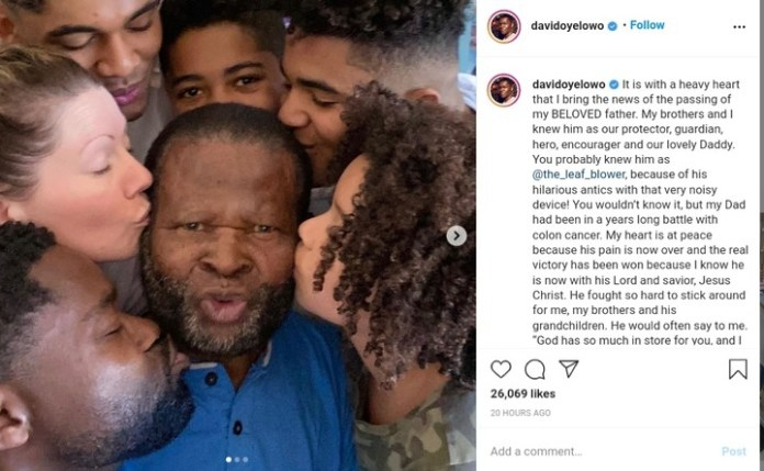 Stephen Oyelowo Is Dead! David Oyelowo's Father Dies Of Colon Cancer (Photos)