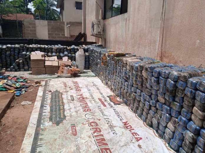 NDLEA Intercepts Truck Loaded With Over 1910Kg of Hard Drugs