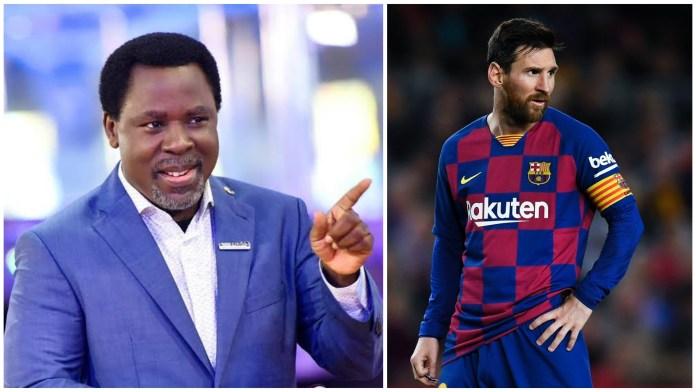 Don't Leave Barcelona - T. B Joshua Warns Messi
