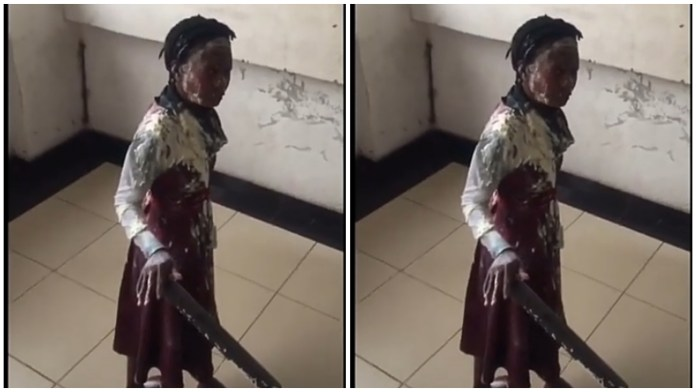 Lady Caught Stealing Soup Doused With Flour And Water