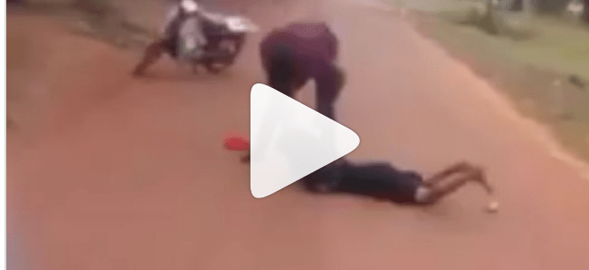 Man Caught On Camera violently Beating A Woman At Kogi State University