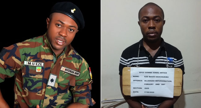 EFCC arrests fake Army Lieutenant For Multiple Fraud