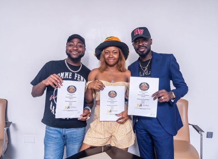 (Photos) Davido Signs First Female Artiste Into DMW
