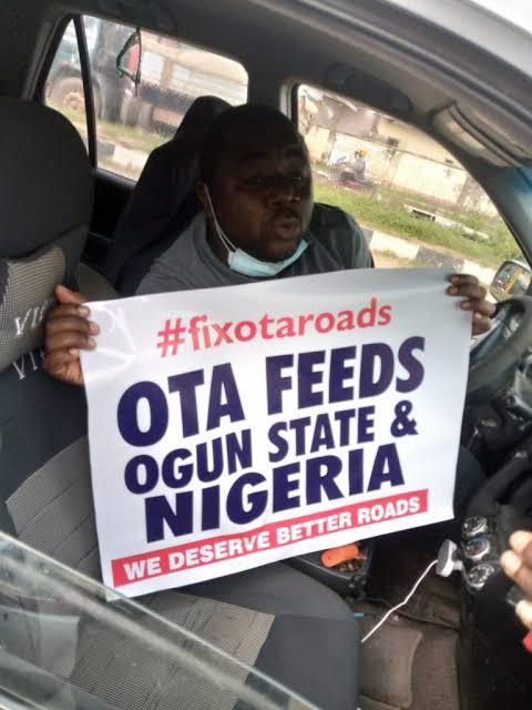 Watch Video As #FixOtaRoads Protest Rocks Sango Ota