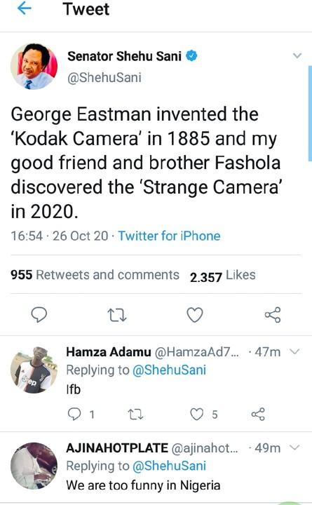 Shehu Sani Exposed How Fashola Discovered 'Strange Camera' In 2020