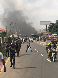 Prison Controllers And Bike Riders Clash, 1 Dead So Far, Many Others Injured In Ibadan (Video/Pictures)