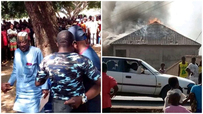 2 Pastors Arrested For Masterminding Disappearance Of Manhoods In Benue As Youths Set Church Ablaze