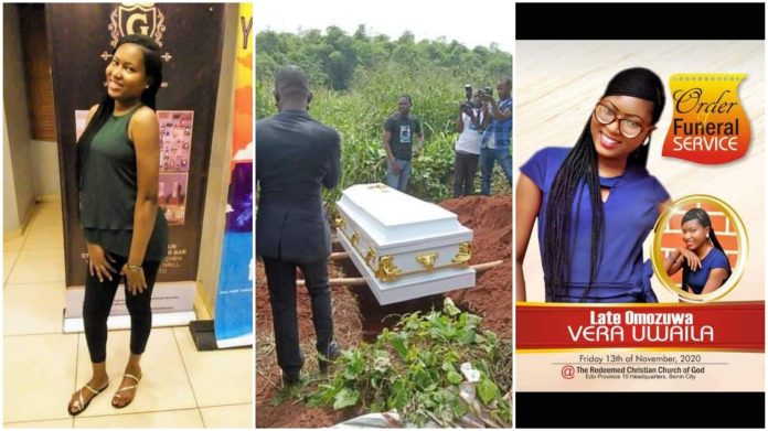 Tears As Raped & Murdered UNIBEN Student, Uwa Omozuwa Is Laid To Rest (Video)