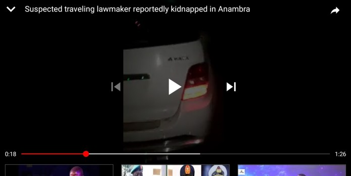 Suspected Traveling Lawmaker Reportedly Kidnapped In Anambra (Video)