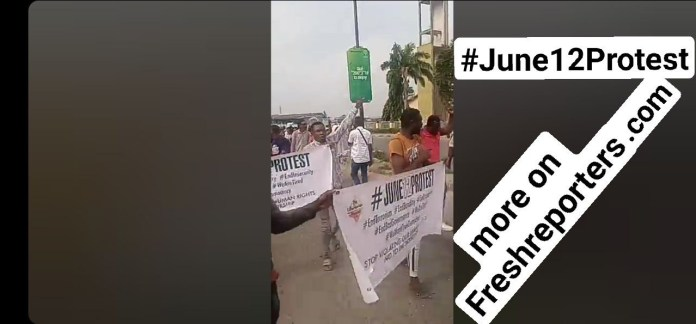 VIDEO NEWS: June 12 Protest Live From Mokola Roundabout, Ibadan