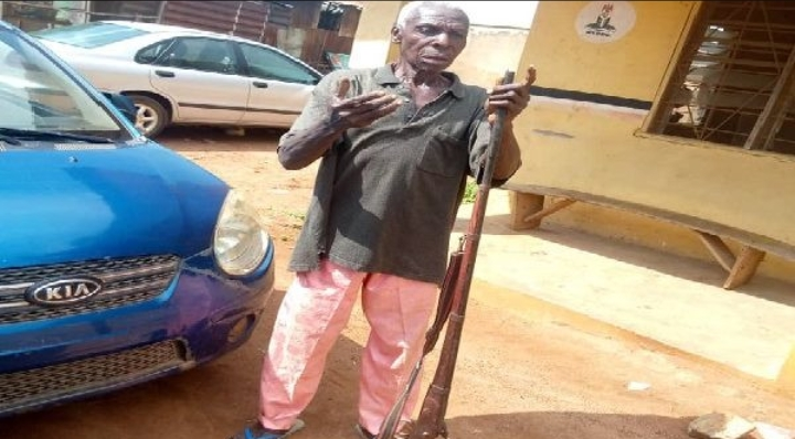 NSCDC Arrests 76-Year-Old Man Who Attempts To Kill His Son With A Locally Made Rifle