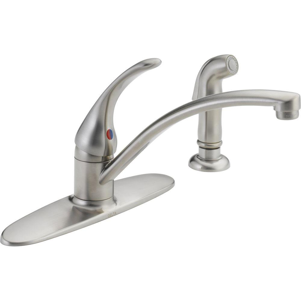 delta single handle kitchen faucet