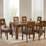 Full Size Dining Room Table Chairs Buffet Round Kitchen Set Bench Freshsdg