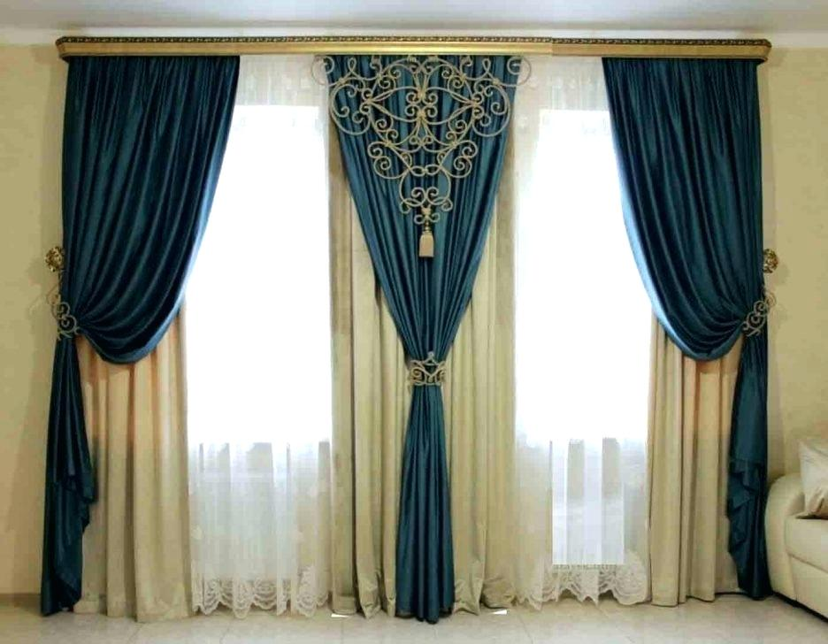 window curtain styles living room large