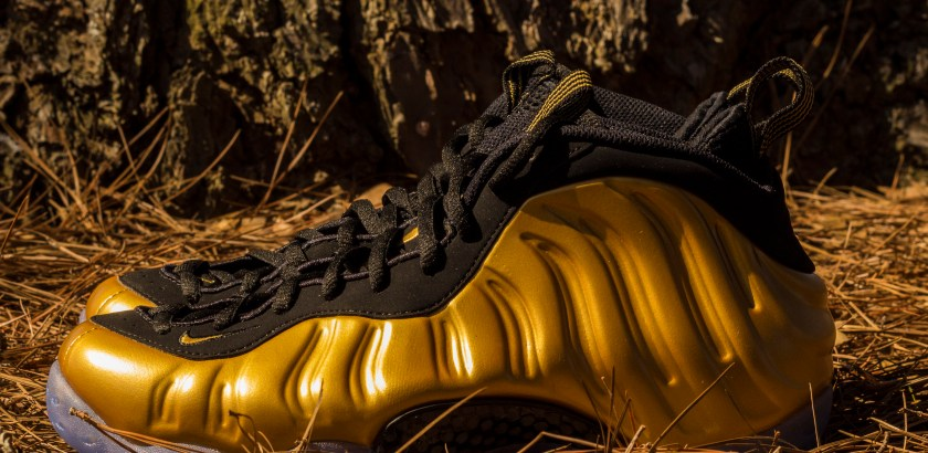 Air Foamposite One – Gold/Black