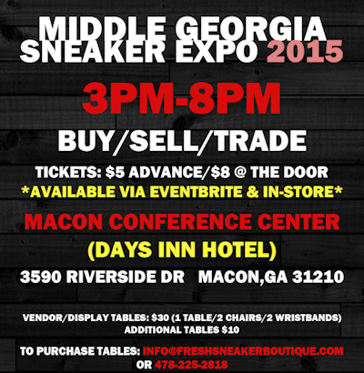 COMING SOON…..MIDDLE GA SNEAKER CONVENTION