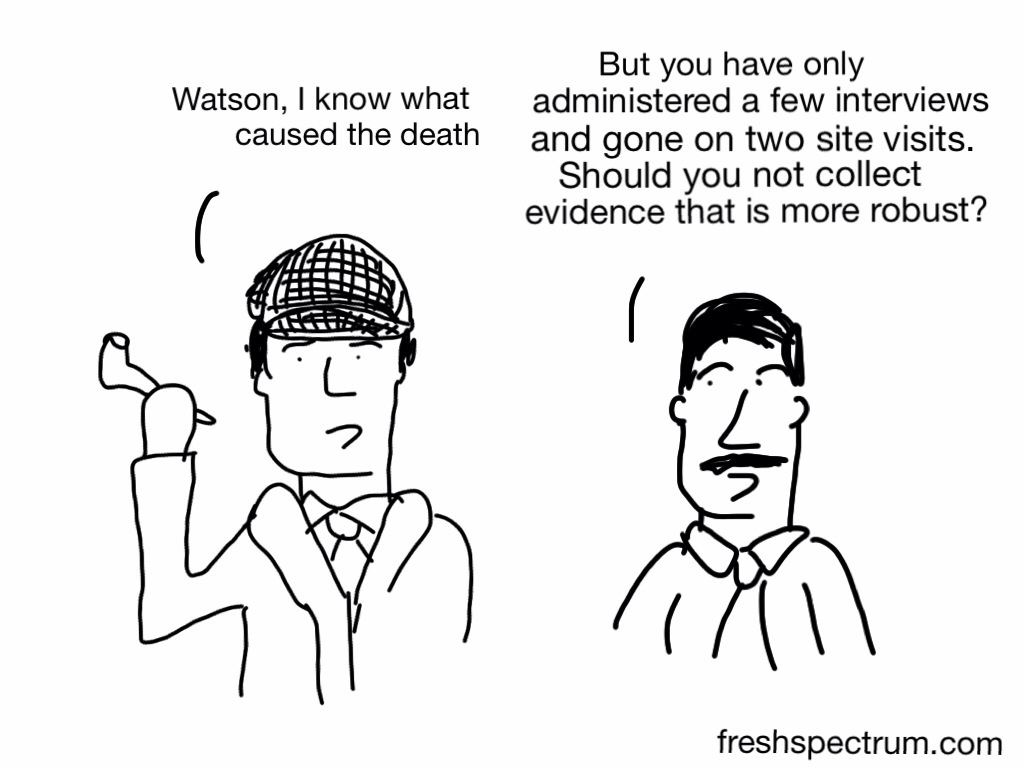 Qualitative Data Analysis Cartoon Illustrating Causation...
