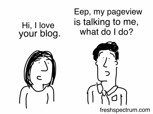Hi, I love your blog.  Eep my pageview is talking to me what do I do?