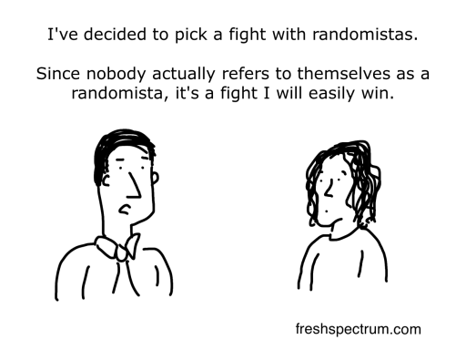 Randomista cartoon by Chris Lysy