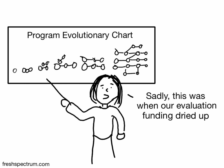 6 Developmental Evaluation Cartoons