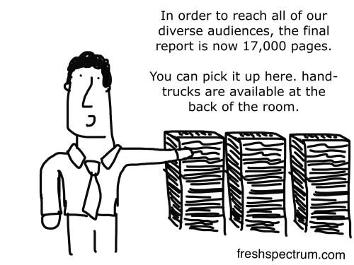 Big report cartoon by Chris Lysy