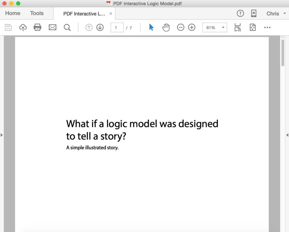 Screenshot of PDF logic model