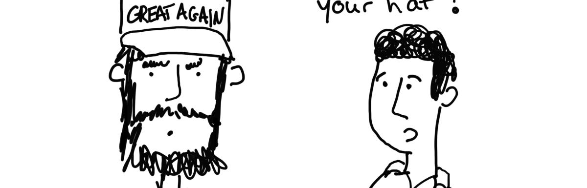 "The ""oh crap, Trump was elected"" cartoon post."