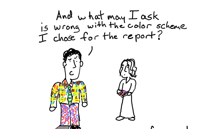 "The ""what is wrong with my report"" cartoon post."
