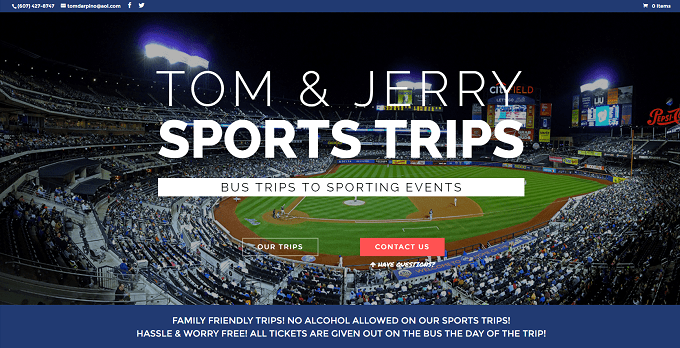 Featured Site Friday Tom Jerry Sports Trips
