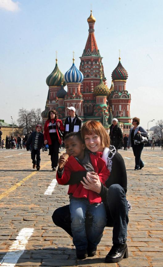 Kim and Cassi in Red Square