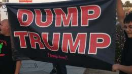 Dump Trump Protest in Fresno California