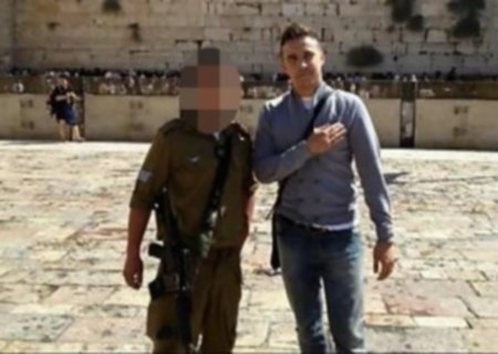 The quenelle at the Kotel, with an Israeli soldier