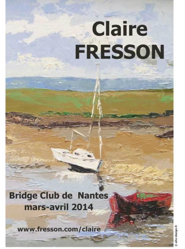 Affiche exposition Claire Fresson Nantes 2014