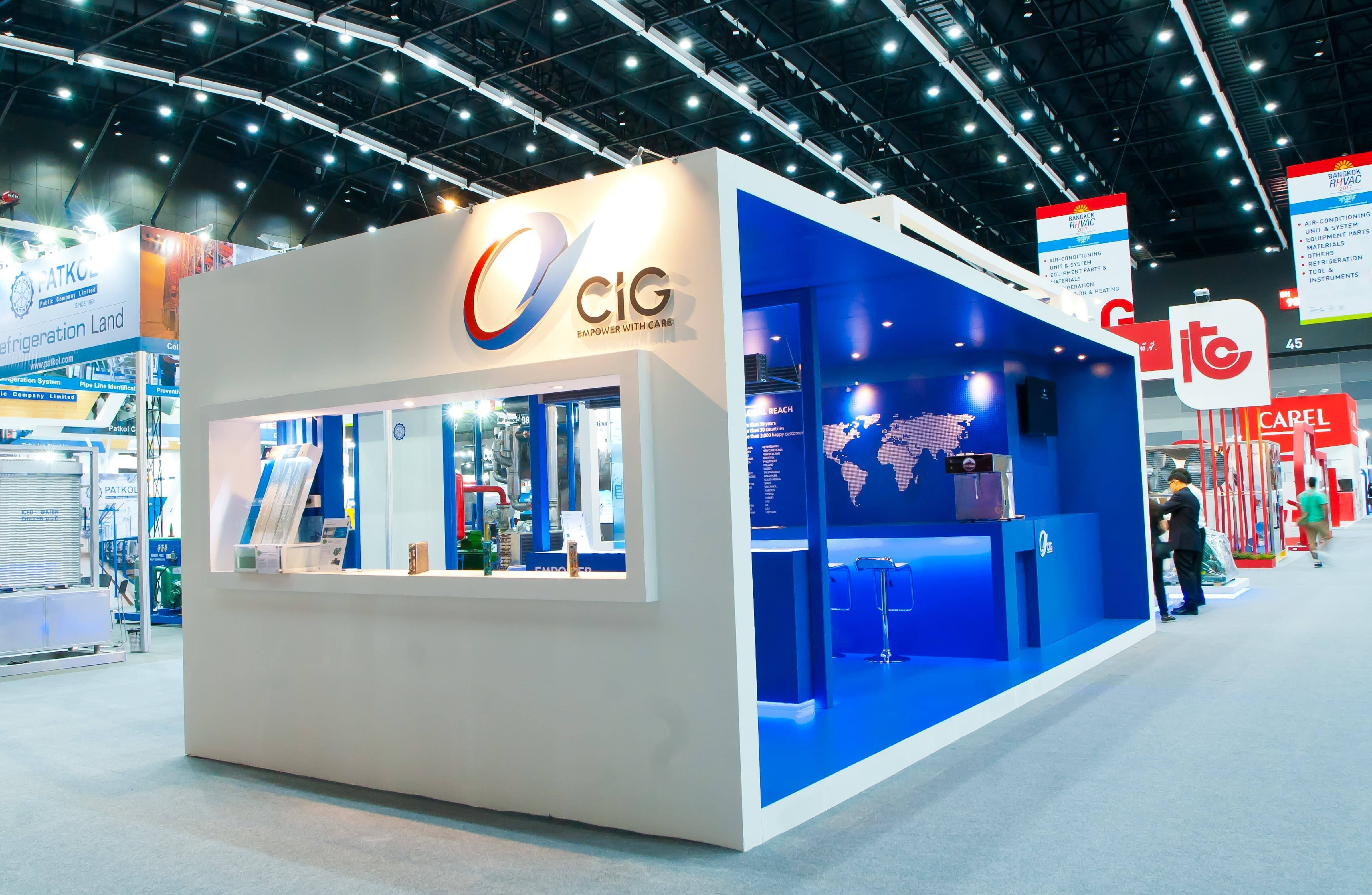 Exhibition Stand Builders Bangkok : Cig trade show stand at rhvac fret free productions
