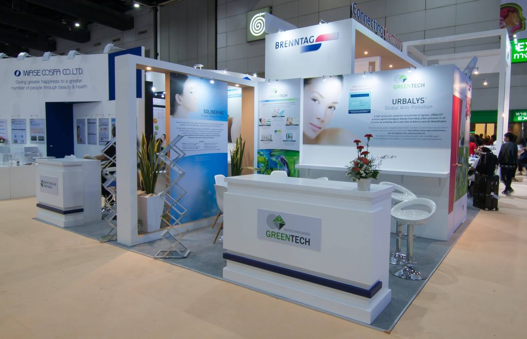 Exhibition Booth Number : Our in cosmetics asia event cosmetic expo thailand booth design