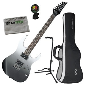 Ibanez RG421PFM RG Standard Electric Guitar Pearl Black Fade Metallic wGig Bag