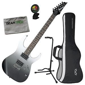 Ibanez RG421PFM RG Standard Electric Guitar Pearl Black Fade Metallic wGig Bag