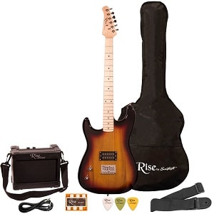 SAWTOOTH GUITARS RISE BY SAWTOOTH ST-RISE-ST-SB-KIT-1 ELECTRIC GUITAR PACK