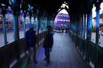 having a chat on the Hogwarts bridge