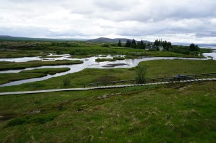 marshland at the edge of the tectonic plates