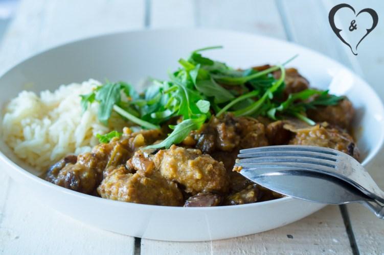 Gele Thai curry met falafel | Freud and Fries