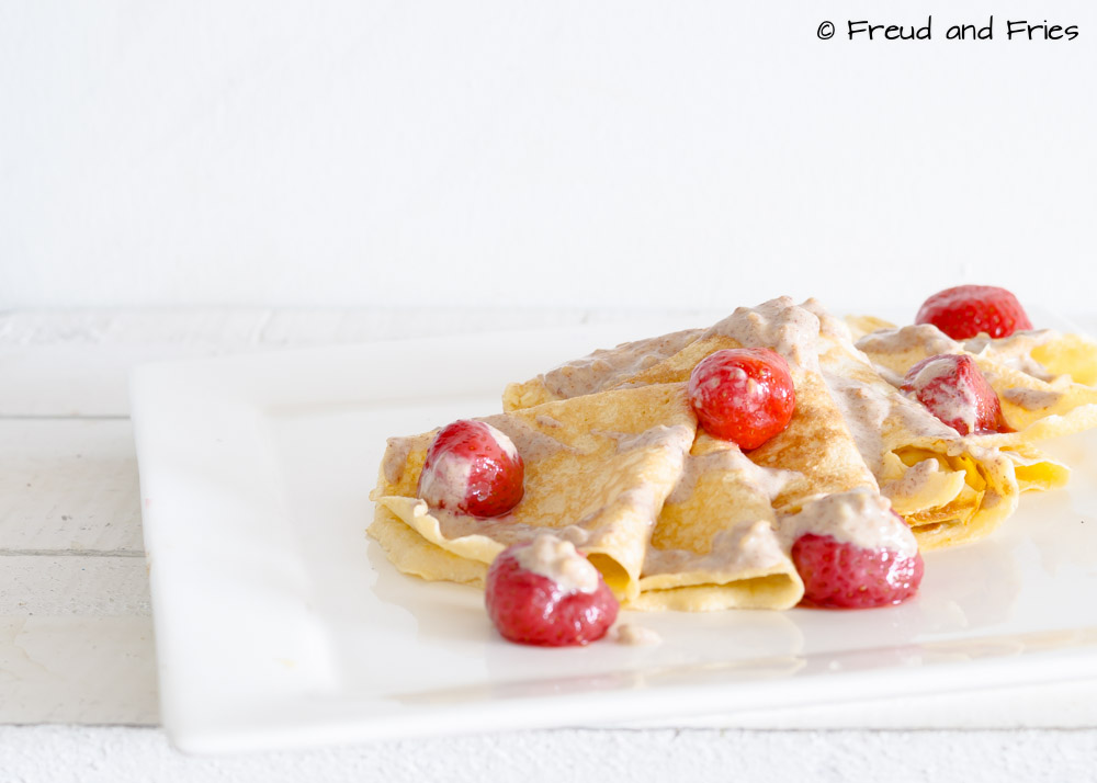 Low carb crêpes met pindakaas | Freud and Fries