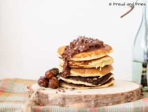 Mocha Pancakes met Chocolade Drizzle | Freud and Fries