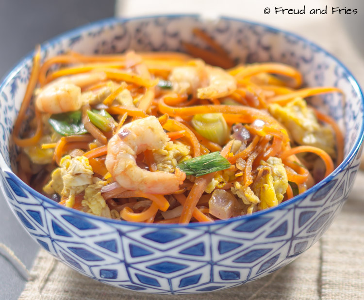 Pad thai met wortelnoedels | Freud and Fries
