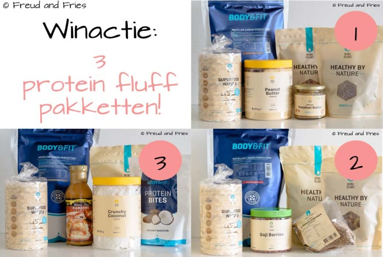 Winactie- 3 protein fluff pakketten | Freud and Fries