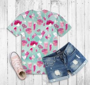 Desert bloom shirt mockup