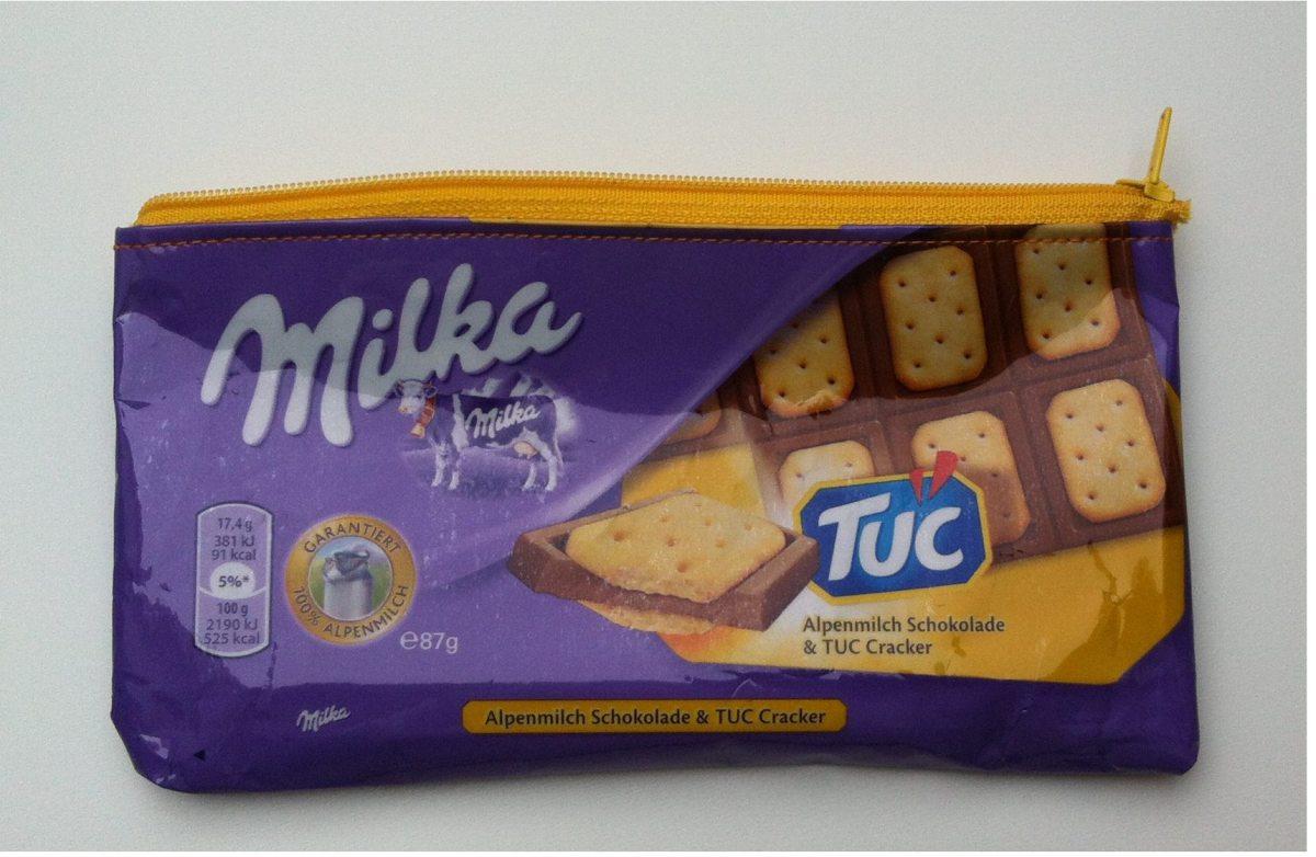 Tutorial: Tasche aus Milka-Papier nähen