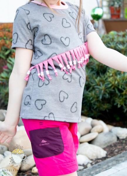 Basic Mädchenshirt mit Herzen Nähwünsche